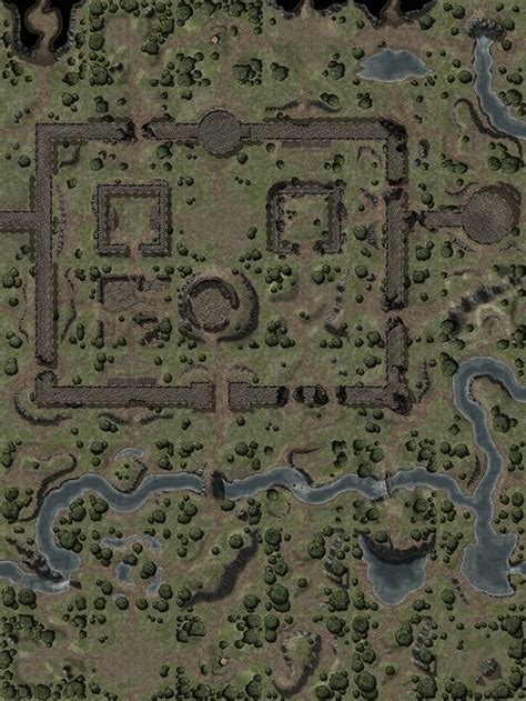 Fortress Ruins (120x160, more info in comments) : battlemaps