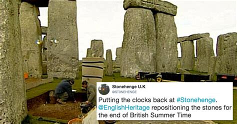 How Stonehenge deals with the end of British Summer Time