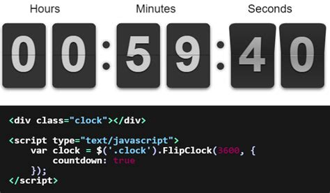 Top 5: Javascript and jQuery countdown plugins | Our Code