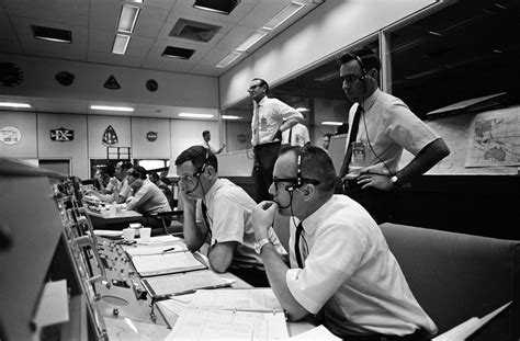 Mission Control during Apollo 10   View of activity at the
