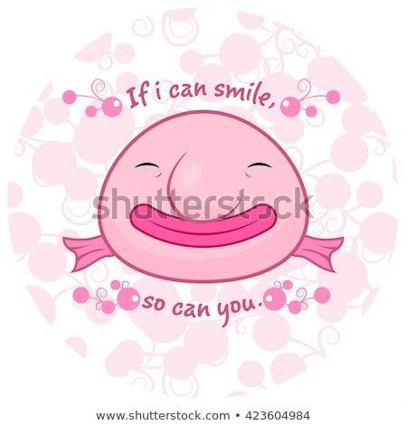 Cute Blobfish Smiling Giving You Message Stock Vector