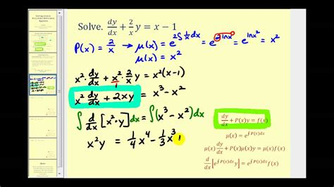 Solving Linear First-Order Differential Equations - YouTube