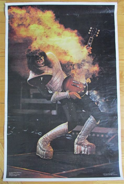 """KISS Vintage Poster ACE FREHLEY """"SMOKING GUITAR"""" 1977"""