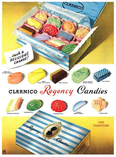 Clarnico Regency Candies for a delicious change! 1950s