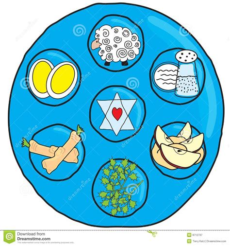 Passover Seder Plate stock vector