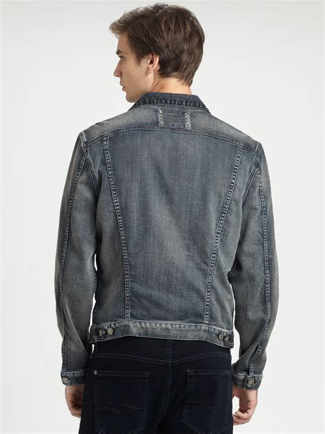 Lyst - 7 For All Mankind Jean Jacket in Blue for Men