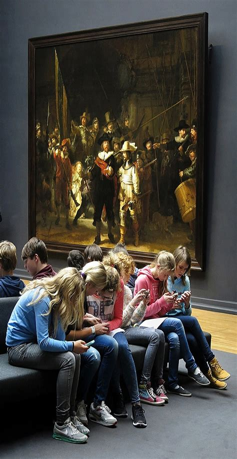 The real story behind a viral Rembrandt 'kids on phones