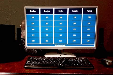 Bridal Shower Jeopardy Question Game with Free PowerPoint