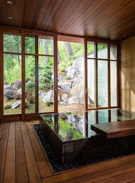 Japanese Design-Inspired Pool House And Spa Showcases
