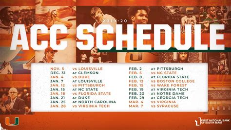 ACC releases schedule for 2019-2020 men's basketball