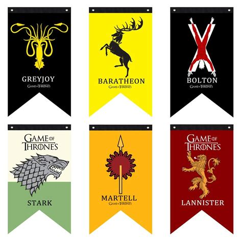 Game of Thrones House Banner Flag Wall Hanging Stark