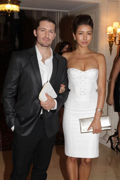 Matthew Morrison had Renee Puente on his arm for the
