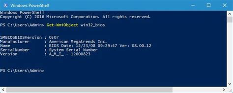 How to: Check BIOS version on Windows 10