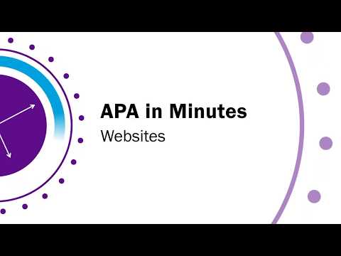 How to Do an In-Text Citation in APA Format From a Web