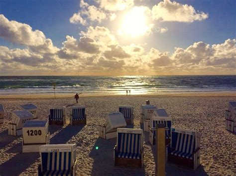 Westerland, Sylt, Germany - On the beach in Sylt, one of