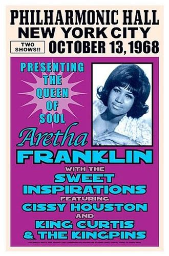 Aretha Franklin NYC 1968, Concert Poster