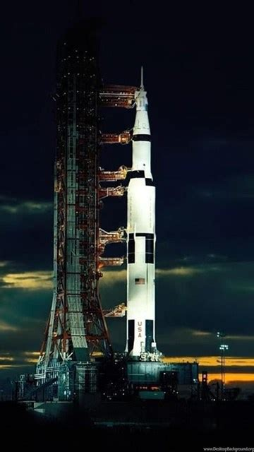 Download Wallpapers The Apollo 17 Saturn V After Sunset