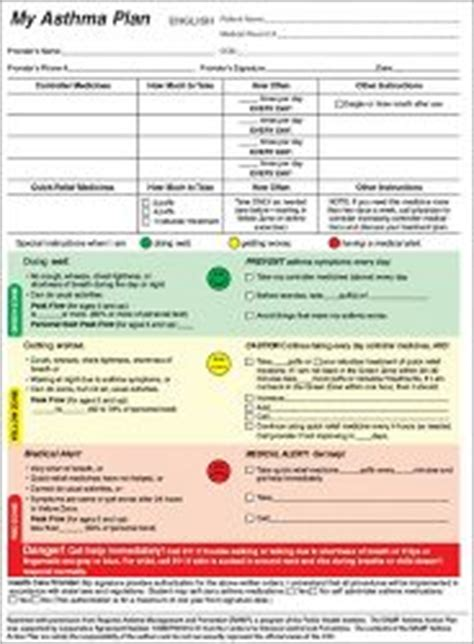 Asthma Plan for patients