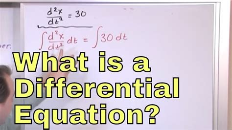 01 - What Is A Differential Equation in Calculus? Learn to